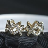 18k yellow gold gp 925 silver earrings simulated diamond huggies kids small size