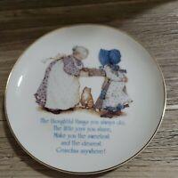Holly Hobbie Dearest Grandma Plate American Greeting Vintage Plate Sealed 1981