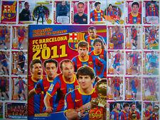 Panini Barcelona 2010/11 2011 Complete Loose Stickers Set&Empty Album