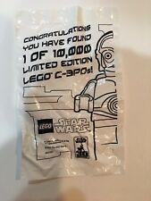 LEGO STAR WARS CHROME GOLD C-3PO 4521221 1 OF 10,000 LIMITED EDITION NEW SEALED!