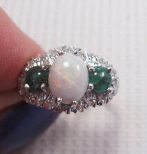 Opal Yellow Gold Ring Vintage Fine Jewellery (1980s)