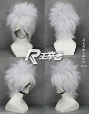 Hot Sell! Kakashi SOUL EATER Anime Silver white Short Cosplay Wig Z213