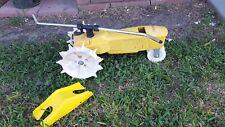 Nelson Raintrain Yellow Tractor Traveling Garden Lawn Water Sprinkler