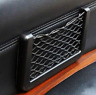 1pc New Car Seat Side Back Mesh Interior Storage Net Pocket Phone Holder Black
