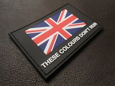 3D PVC GLOW THESE COLOURS DON'T RUN BRITISH ARMY UK UKSF SAS FLAG HOOK PATCH
