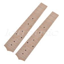 2 Pcs 23'' Ukulele Fretboard Fingerboard With 18 Frets Maple For Concert Ukulele
