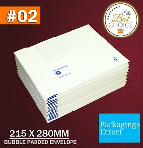 200x Bubble Mailer Padded Bag 02 215mm X 280mm Cushioned Envelope