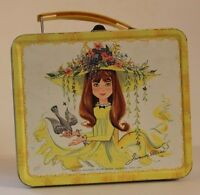 VINTAGE METAL LUNCHBOX W/METAL THERMOS 1966-69 JUNIOR MISS