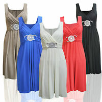 A16 Women Ladies Short Buckle Evening Prom Maxi Bridesmaid Dress Plus Size 8-26