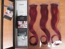 Balmain Paris Double Hair Volume Colour 40cm extension 3pcs Chili Red/Aubergine