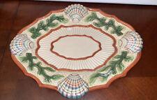 "Fitz and Floyd Classic ""Fish Market"" Sea Shell Plate Dish Beach Ocean Decor"