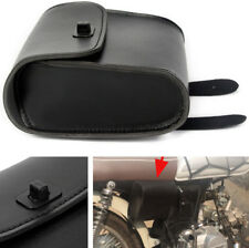 1x Motorcycle Bike Side Tool Bag Black Luggage Saddle Bags Quick-release Buckle