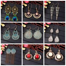 Women Bohemian Boho Style Peacock Tassels Multi-style Hook Drop Dangle Earrings