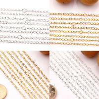 New Lots 10/50Pcs Gold/Silver Plated Filigree Metal Chain Necklace Finding 3x2mm
