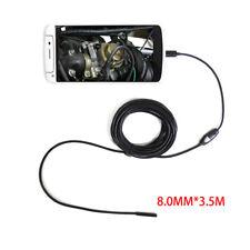 TELECAMERA ENDOSCOPICA USB ISPEZIONE SONDA FLESSIBILE 8MM CAMERA LED ANDROID