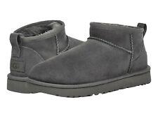 Para mujeres Zapatos UGG Classic Ultra Mini Ii De Piel De Oveja Botas al Tobillo 1116109 Gris