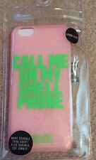 VICTORIA'S SECRET PINK iPhone 6 6S Flexible Case CALL ME ON MY SHELL PHONE. NWT