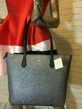 NWT Authentic KATE SPADE Joeley glitter LARGE tote 3 COLORS