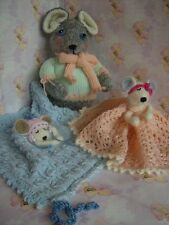 Dorian Dormouse Soft Toy Baby Snuggle & Comforter Blankies knitting pattern