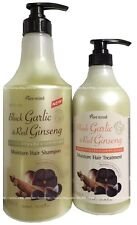 Black GARLIC & Red GINSENG Extract Damaged HAIR TREATMENT & Shampoo JUMBO SIZE !
