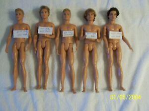 Barbie's - Ken Dolls Mixed Lot Of 5 Nude See Pics/Description