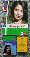 3x Bücher: Türkisch für Anfänger*Sprachkurs Türkisch*Langenscheidt Wörterbuch*