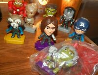 Toy Figure Lot of 8 Marvel Avengers McDonalds Happy Meal Iron Man Cake Toppers