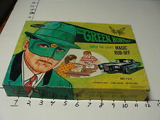 1966 original GREEN HORNET Magic Rub Off toy COMPLETE