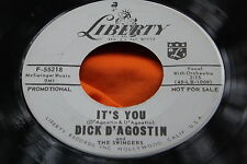 Rare Rockabilly 45: Dick D'Agostin & Swingers ~ It's You ~ Liberty F-55218 Promo