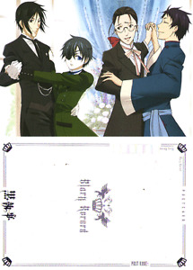 KUROSHITSUJI BLACK BUTLER CARTOLINA 12X17 POSTCARD #40