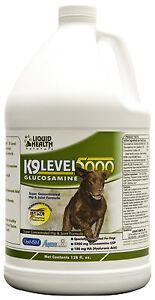 Liquid Health Dogs K9 Level 5000 - Glucosamine - Chondroitin Opti-MSM 128 fl oz