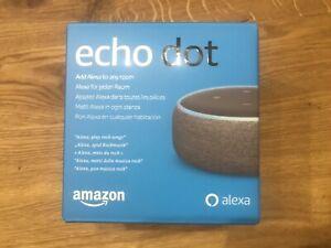 Alexa Amazon Echo Dot 3 Neuste Generation, Neu! OVP Ungeöffnet Anthrazit Grau