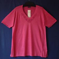 Samoon Pullover Gerry Weber Longstyle pink Leinen-Viskose-Mix Neu Damen Gr.44