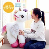 Giant Fluffy Unicorn Pegasus Gift Pony Christmas Birthday Children Toy White
