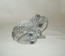 ACC Heavy Handmade Collectible Crystal Frog Made in Taiwan Pre Owned FREE SHIPN