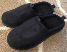 Mens Medium 9/10 West Loop Black Clog Slippers House Shoes New