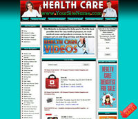 Fully Stocked HEALTH CARE Business Website for Sale