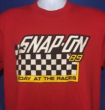 VTG 1989 Snap On Tools A Day At The Races T Shirt Nascar 1980s 80s *M
