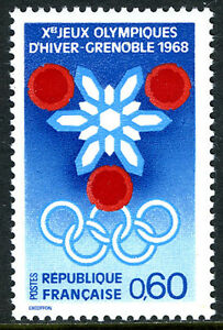 France 1176, MNH. Winter Olympic Games, Grenoble, 1967