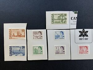 Canada Canadian Stamp Thematic Collection #454 455 456 458 463 464 465a (1967)