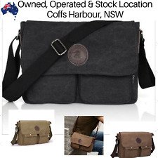Mens Canvas Bag Shoulder Messenger School Bags Vintage Military Travel Satchel