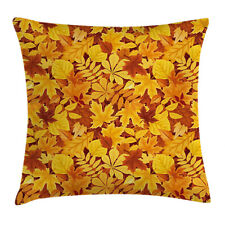 Tree Throw Pillow Case Shady Fall Oak Maple Leaf Square Cushion Cover 16 Inches