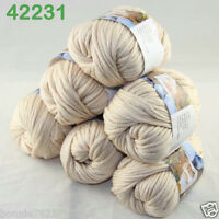 Sale Lot 6ballsx50g Soft Worsted Cotton Chunky Bulky Hand Knitting Shawl Yarn 31