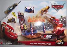 Disney Pixar Cars XRS Mud Racing Big Air Drop Playset New