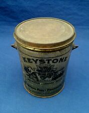 1920's Rare KEYSTONE Fruit Product CURRANT JELLY TIN CAN PAIL LID HANDLE OHIO OH