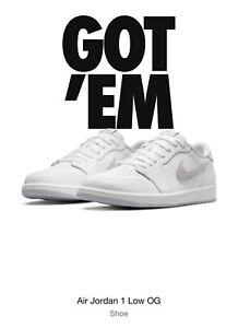 Nike Air Jordan 1 Low OG Neutral Grey Men's Size 11.0 *CONFIRMED Order*