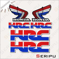 X6 PEGATINAS KIT HONDA HRC STICKERS MOTO VINILO SERIGRAFIADA