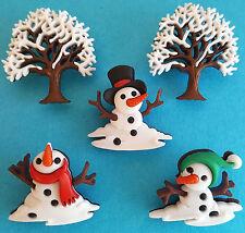 Non cercare di neve-albero di Natale pupazzi di neve PUPAZZO DI NEVE WINTER dress It Up Bottoni Craft