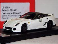 FERRARI 599XX VERSIONE CLIENTI BIANCO AVUS/GRIGIO LOOKSMART LS368H LIM. 1/43