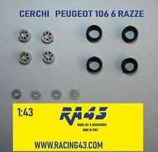 1/43 Cerchi Wheels Peugeot 106